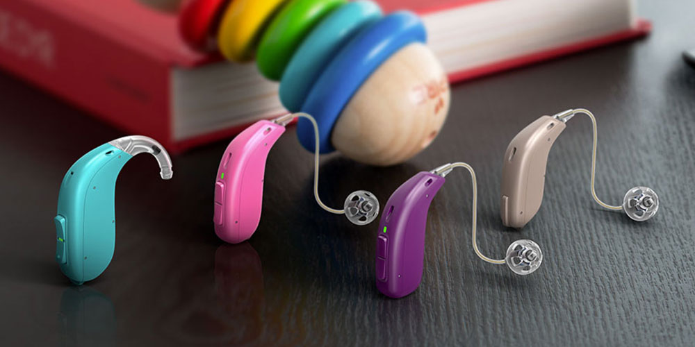 Hearing Aids in Multiple Colors